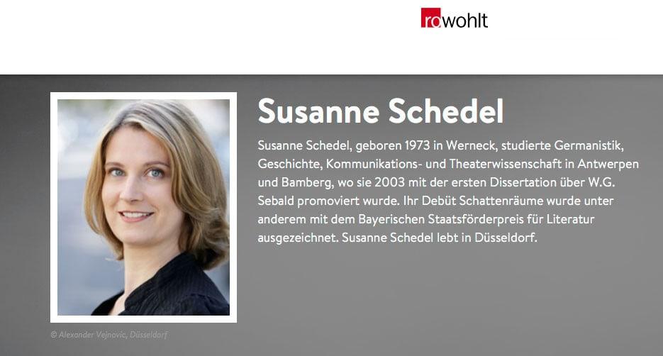 Autorenfoto von Susanne Schedel für den Rowohlt Verlag