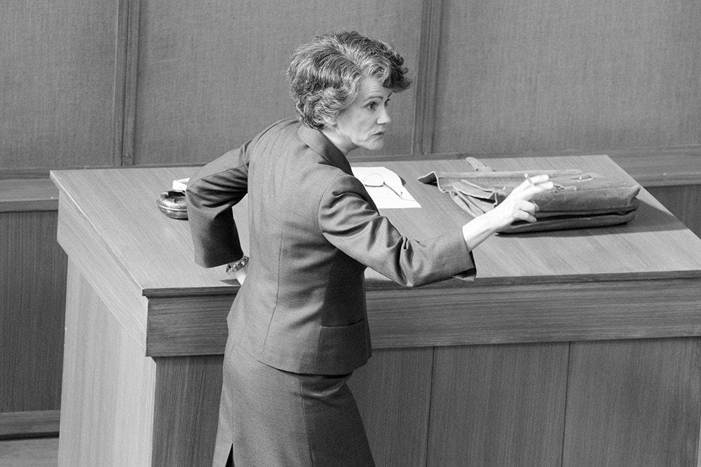 Barbara Sukowa in der Hauptrolle des Hannah Arendt Film