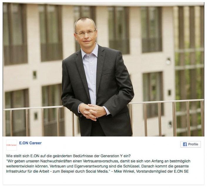 Fotoshooting für ein Mitglied des E.ON Vorstand