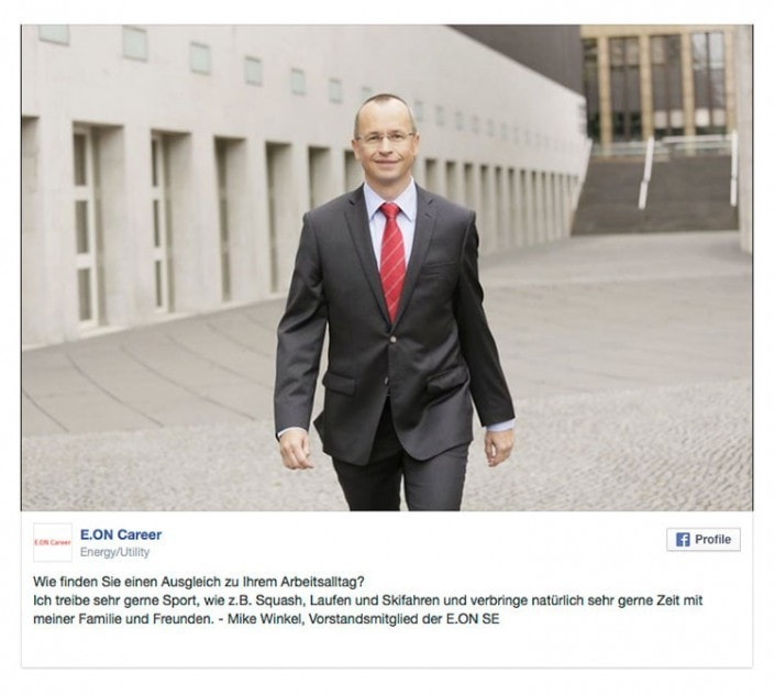 Fotoshooting eines Vorstandsmitglied für eine Facebook Werbekampagne