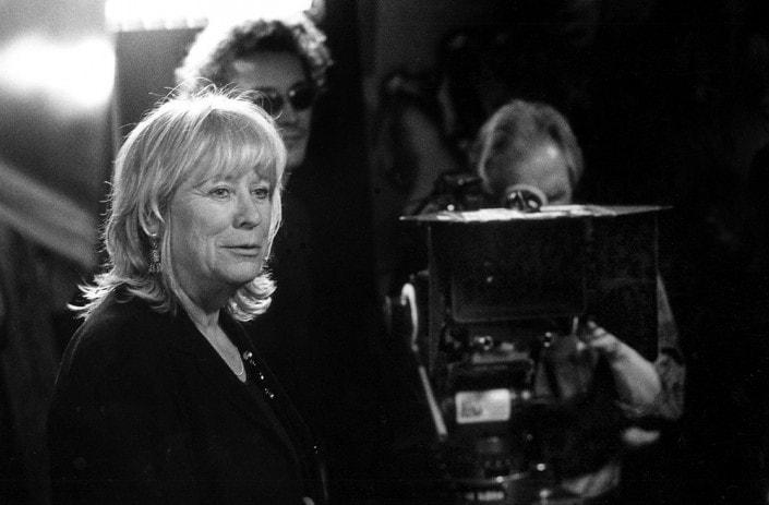 Die Regisseurin Margarethe von Trotta beim Filmdreh