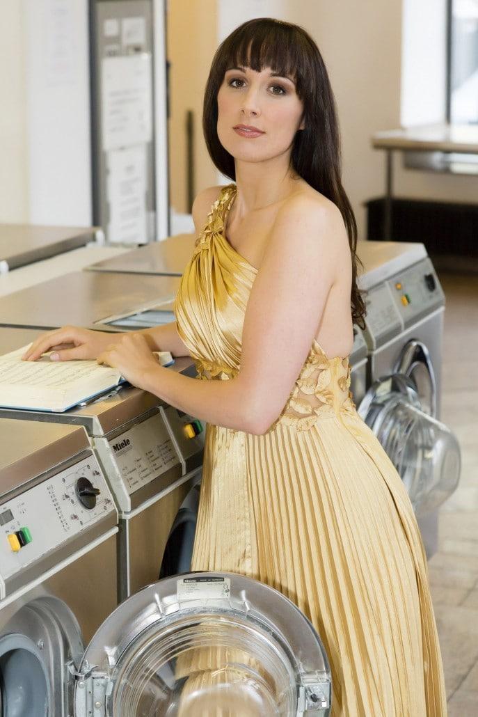 Eine Sopranistin im Waschsalon