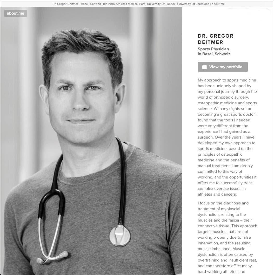 Emphatisches Arztfoto für einen Sportmediziner