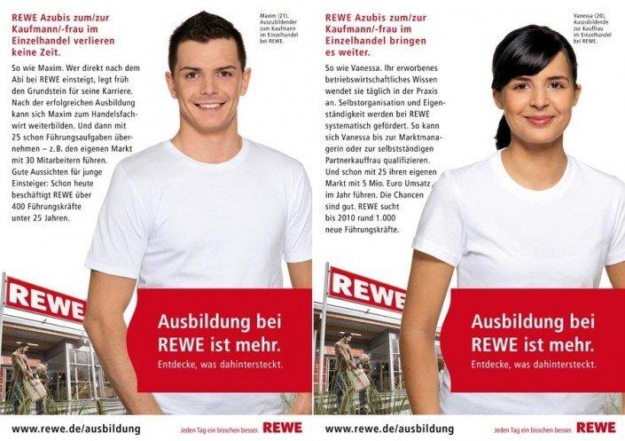 Werbefotografie für die REWE, Azubi Kampagne
