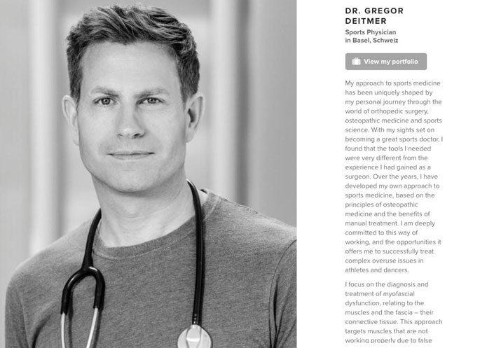 Fotoshooting für einen Arzt