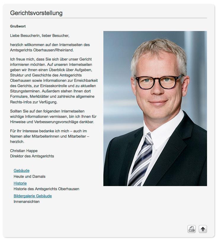 Der neue Direktor des Amtsgericht Oberhausen